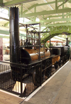 Locomotion Number 1.  Made for the Stockton and Darlington Railway in 1825 and the first locomotive to run on a public railway.  Photo: Tim Ruffle.