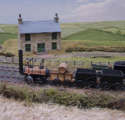 A scene from the Museum's model of the Stockton and Darlington which illustrates its route from pits to port.  Photo: Tim Ruffle.